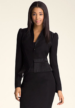 bebe Katrina Pleated Jacket