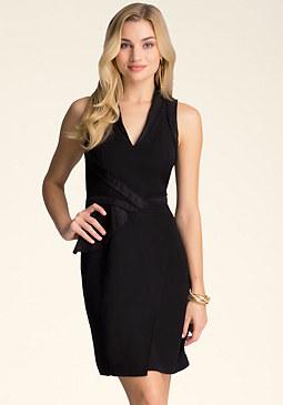 bebe Katrina Pleat Accent Dress