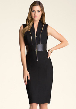 bebe Izzy Zipper Dress