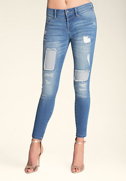 bebe Patch & Repair Jeans