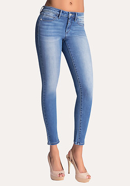 Logo Pocket Skinny Jeans at bebe