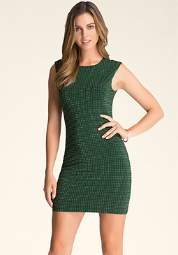bebe Allover Mini Stud Dress