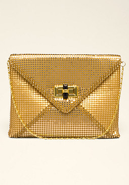 bebe Cecile Chainmail Clutch