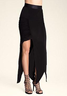 bebe Crisscross Hem Maxi Skirt