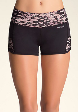 bebe Lace Inset Shorts