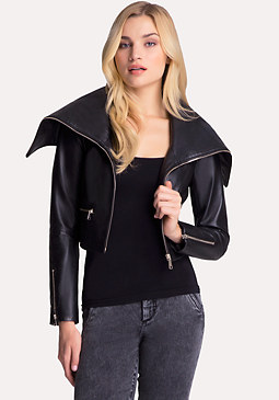 bebe Maleece Leather Jacket