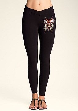bebe Tribal Butterfly Leggings