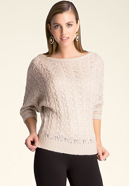 bebe Batwing Boatneck Sweater