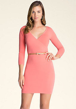 bebe Ottoman Wrap Dress