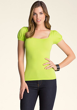 bebe Puff Sleeve Top