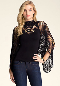 bebe Slash Sleeve Top