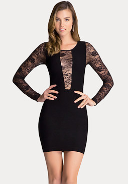 bebe Square Neck Dress