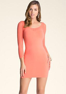 bebe Gaby Mix Texture Dress