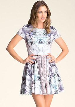 bebe Mix Print Circle Dress