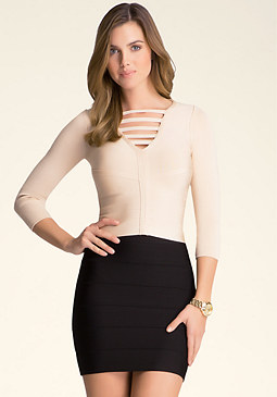 bebe Crossbar Bandage Top