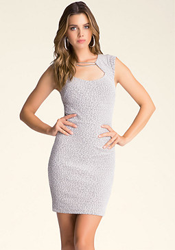Rayne Textured Dress at bebe