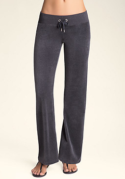 bebe Heather Velour Pants