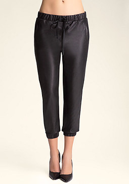 bebe Crackle Faux Suede Pants