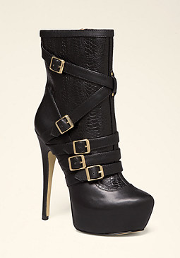 bebe Tabitha Buckle Booties