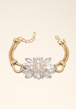 bebe Rhinestone Cluster Bracelet