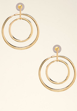 bebe Modern Circle Earrings