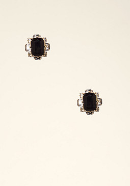 bebe Stacked Crystal Earrings
