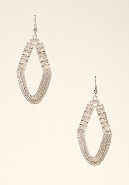 bebe Looped Crystal Earrings
