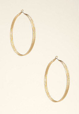 bebe Triple Row Hoop Earrings