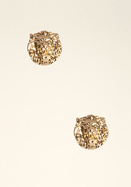 bebe Lion Head Stud Earrings
