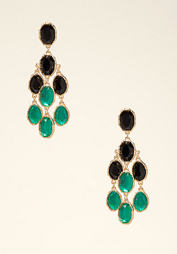 bebe Ombre Crystal Earrings