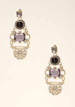 bebe Deco Crystal Drop Earrings