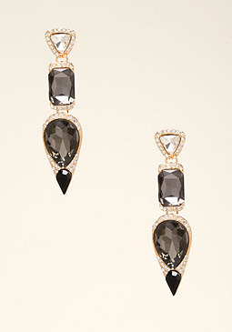 bebe Geo Stone Drop Earrings