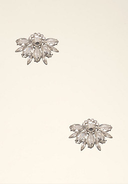 bebe Crystal Cluster Earrings