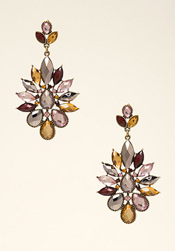 bebe Multicolor Gem Earrings