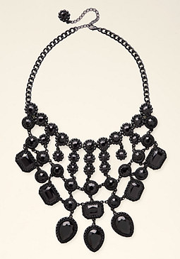bebe Black Statement Necklace