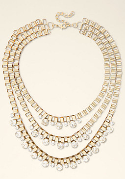 Layered Box Chain Necklace at bebe