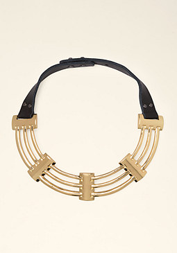 bebe Cutout Collar Necklace