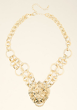 bebe Lion Pendant Necklace