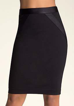 bebe Zoe Grosgrain Skirt