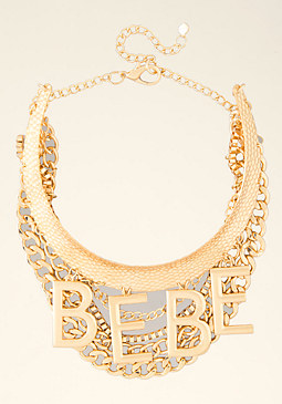 bebe Logo Collar Necklace
