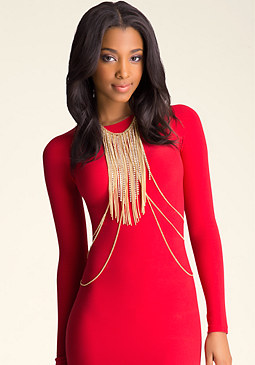 bebe Crystal Fringe Body Jewelry