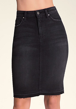 bebe Willow Denim Skirt