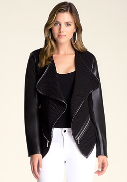 bebe Azalea Drape Front Jacket