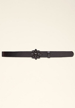 bebe Jewel Denim Belt �����