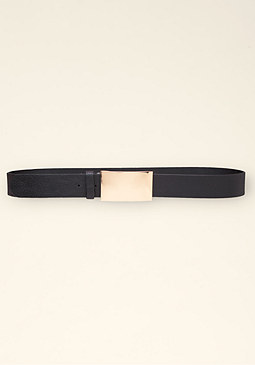 bebe Plated Denim Belt �������
