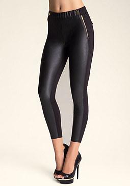 bebe Faux Leather Front Leggings