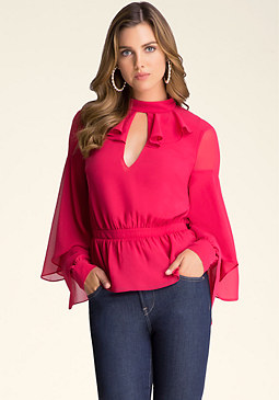 bebe Ruffled Layer Blouse