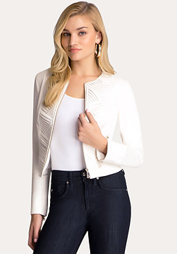bebe Laurel Stair Pleated Jacket