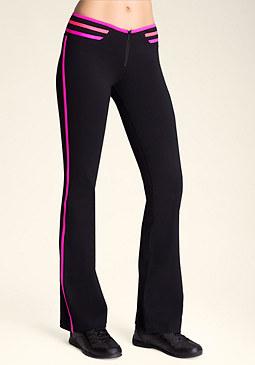 bebe Contrast Zip Front Pants
