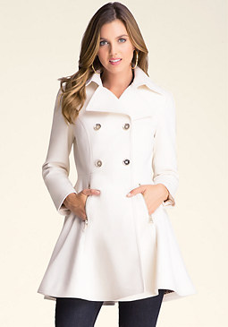 bebe Wool Flared Coat